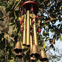 67cm Living Wind Chimes Outdoor Garden 4 Tubes Bells Antirust Copper Antique Windchime For Home Yard Decor Hanging Decoration