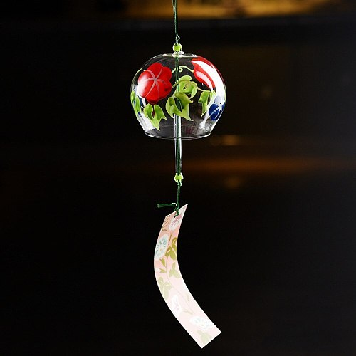 Handmade Glass Wind Chimes Japanese Style Wind Chime Simple And Beautiful Label Pendnat Chimes Wind Bells For Home Decoration