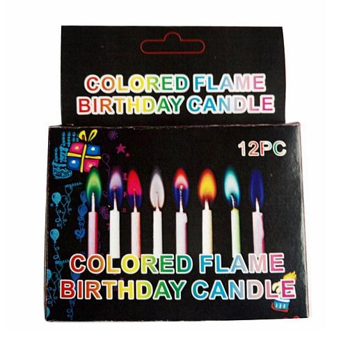 12pcs/Box Multicolor Christmas Candle Flame Candles Colorful Wedding Party Birthday Candles Decoration Party Supplies