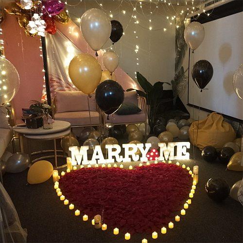 24pcs LED Candle Lamp Light Flameless Simulation Tea Light Valentine Day Wedding Candle Home Wedding Birthday Party Decoration