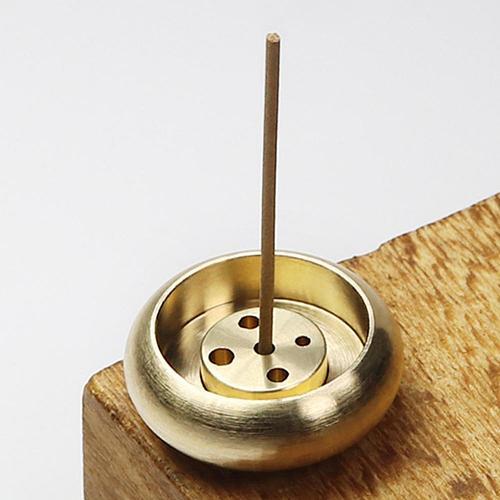 Detachable 5 Holes 1PC Brass Incense Burner Stick Holder Plate Buddhism  Anti-oxidation Censer Bronze Incense Burner  for Home