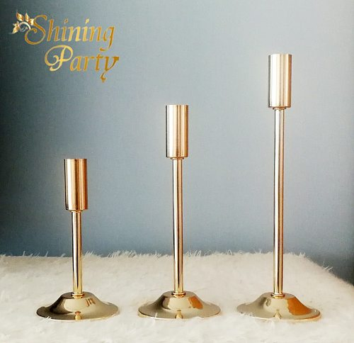 Shining Party Golden Candle Holder, Nordic Candlestick, Centerpieces, Wedding Party Christmas Home Decoration