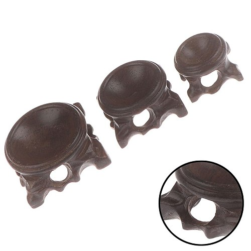 Wood Display Stand Base For Crystal Ball Sphere Globe Stone Decoration Crafts Figurines Miniatures Crystal Ball Holder Bracket