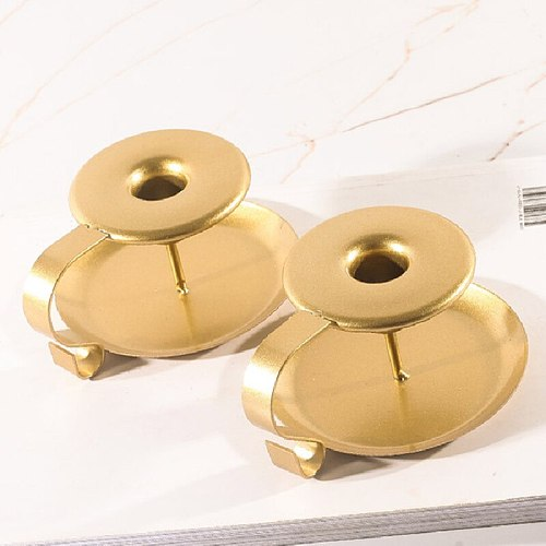 Modern Style Golden Teacup Candle Holder Aromatherapy Wedding Party Desktop Layout Decoration Home Accessories bougeoir 1Pair