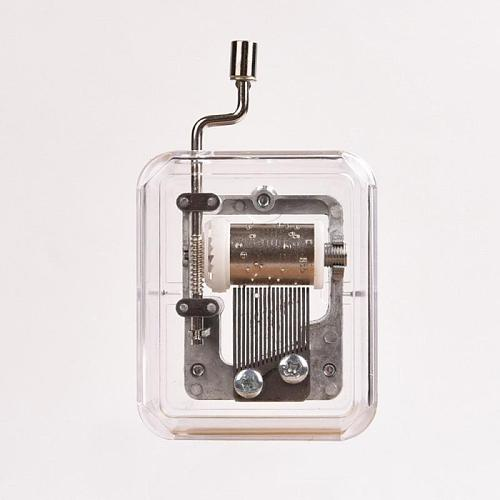 Mini Hand Music Box Movement DIY Square Decorative Collectibles Metal Silver A Cute Gift For Yourself Or Your Friends