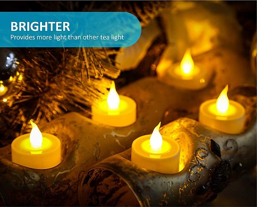 Flameless Led Tealight Candles Battery Operated Warm White Flameless Pillar Candle Bluk for Romantic Decorations