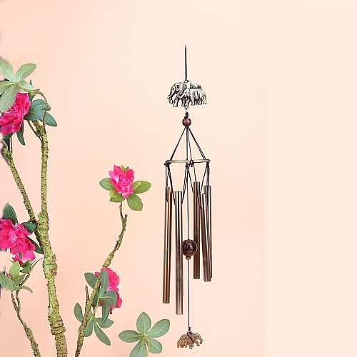 Outdoor Garden Yard Home Living Wind Chimes 6 Tubes Aluminum Home Windchime Bells Wall Hanging Home Room Decor Friend Gift