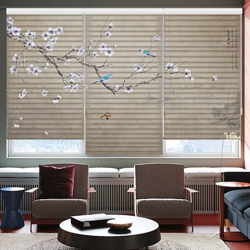 Roman curtains can be customized with patterns Bedroom living room roller shutter can be customized size Roman blinds