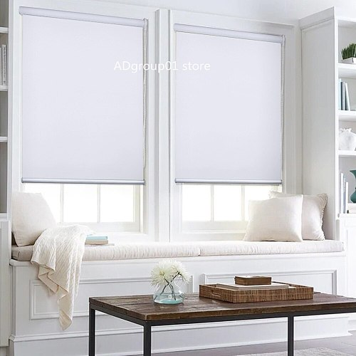 Manual Window Curtain Roller Blinds and Shades Shutters Curtains for Home Office Living Room Bedroom Balcony Kitchen