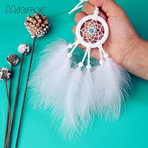MIAMOR MINI White Dreamcatcher Wind Chimes Bag & Car Hanging Decor Accessories Best Gift For Girlfriend Necklace For Lady Amor07