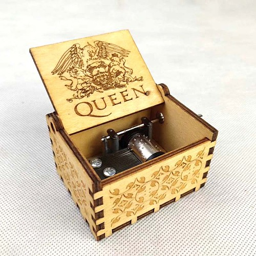 Birthday Carved Star Box Cranked Music Anonymity Beast Present Theme Queen MY Christmas Wooden Wife Castle Ball Hand