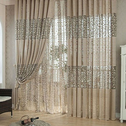 1X Polyester Fiber Curtains For Bedroom Screening On The Window For Living Room Home Decor
