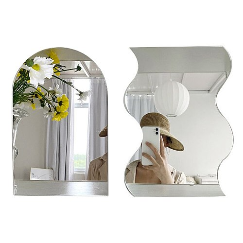 Home Decor Mirrors For Bedroom Mirrored Furniture Bathroom Decor Mirror Wall Stickers Makeup Mirror Acrylic Home Decoration