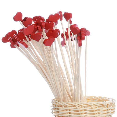 10PCS Flower heart Aromatherapy Rattan No Fire Aroma Diffuser Sticks Home Living Room Aromatic Incense