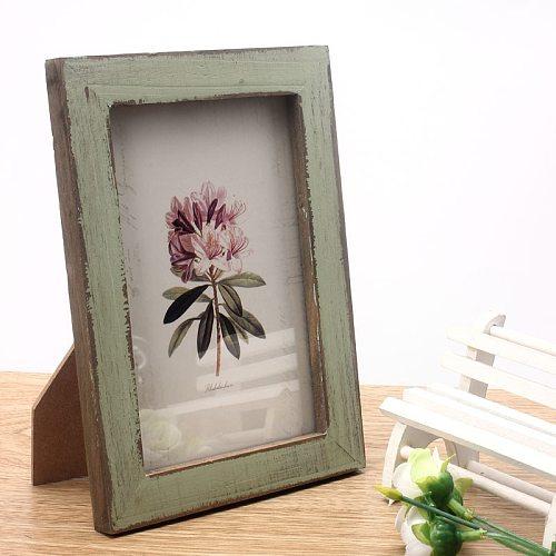 Vintage Photo Frame Home Decor Wooden Wedding Casamento Pictures Frames GN