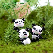 8pcs cute Panda Material Assembly and Landscape Making Material Decoration kids gifts Miniature Garden figurine Home Decor