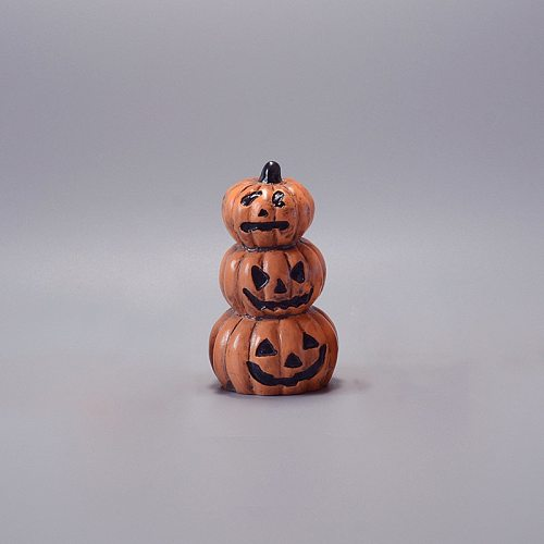 Creative Halloween Decoration Miniature Figurines Pumpkin Resin Craft Mini Fairy Garden Ornaments Home Decoration Accessories