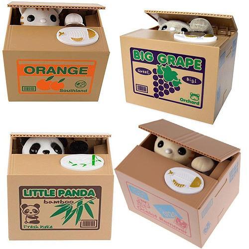 Stealing Money Cat Music Stealing Money Piggy Bank Children Cartoon Cat Electric Piggy Bank Gift Custom Logo