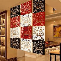 Plastic Hanging Screen Wall Partition Hanging Room Divider Panels for Living Dining Room Office Restaurant Art Decoration