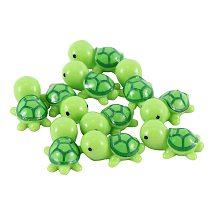 10PCS Mini Turtle Miniature Figurines Dollhouse Bonsai Garden Micro Landscape Decor Fairy Garden Miniatures Dropshipping