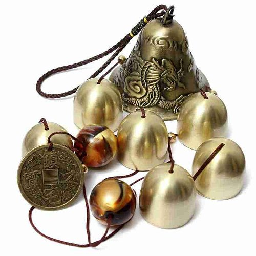 Antique Wind Chime Copper Patio Garden Outdoors Living Oriental Decor Metal Bell Lucky Chinese Wind Wind Outdoor Chimes G9P7