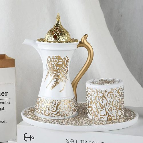 3In1 Arabic Incense Burner Set Middle East Muslim Incense Burners Ceramic Cone Censer Holder Home Decoration Crafts Christmas G