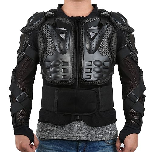 S-XXXL Motorcycle Full Body Armor Jackets Motocross Racing Clothing Suit Moto Riding Protectors Spine Chest Shoulder Protection