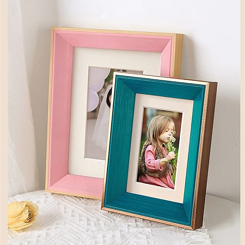 5/6/7/8/10inch A4 Plastic Photo Frame For Home Decoration Wall Black White Pink Green Gray Photo Frame Art Poster Pictures Frame