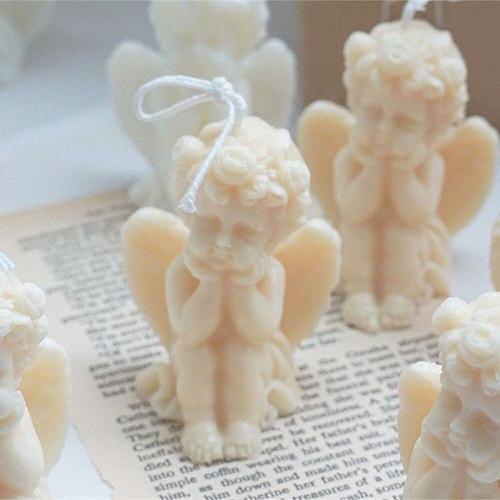 1pcs Art Candle 3D Cute Cheek Angel Scented Candle Wax Home Birthday Party Christmas Decoration Candle Holiday Gifts