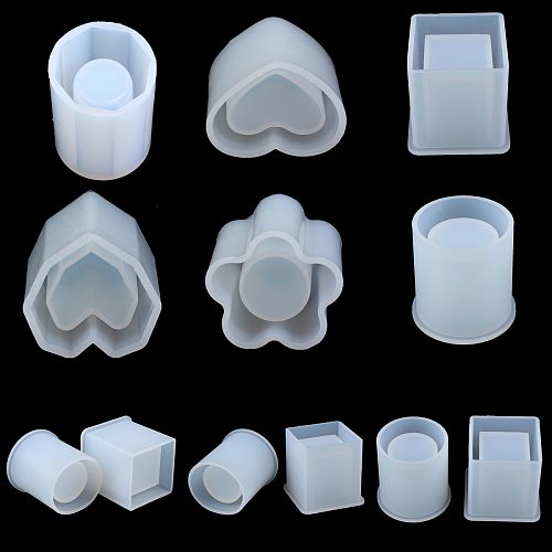 Square Round Candle Mold Dried Flower Resin Decorative Craft Designer DIY Storage Pen Holder Mould Epoxy Resin Concrete Mold