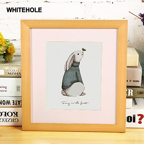 Wooden Photo Frame Picture Classic Square Desktop Poster Frame For Hung On The Wall Pleixglass Inside Pictures Frames Photos