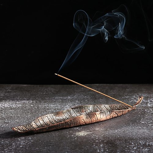 Lucky Gold Leaf Incense Burner Classic Alloy Aromatherapy Furnace Home Aromatic Censer Decorative Crafts Ornaments