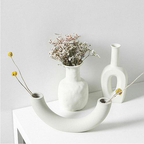 Nordic Ins Ceramic Vase Home Decoration Ornaments Crafts Vegetarian Ceramic Flower Pot Art Vases Home Decoration Ornament Gifts