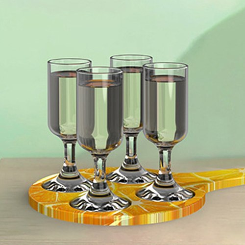 Wine Glass Serving Tray Resin Mold candles tray Epoxy Silicone Coaster Mold Racks Shot Glass Holder DIY Crafts Home Decorations