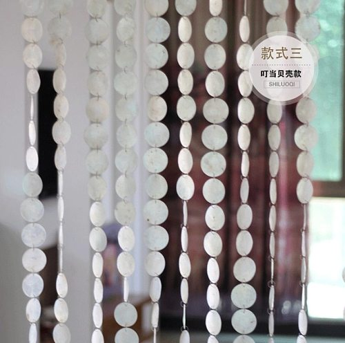 5m Natural shells pollution-free curtains Indoor partition Decorative Wind chimes curtains Hotel decoration Door curtains