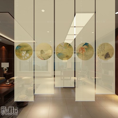 China screen soft partition vestibule hanging curtain shutter shutter Creative screen for the room room divider biombo