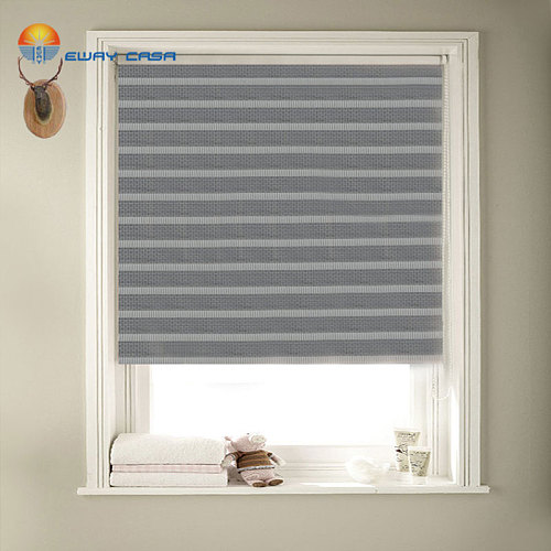EWAY CASA Customized ANTI-UV Blackout Linen Like Black Mesh Roller Blinds Zebra blinds Shadows Bedroom Shutters Blinds No.ZB_BL