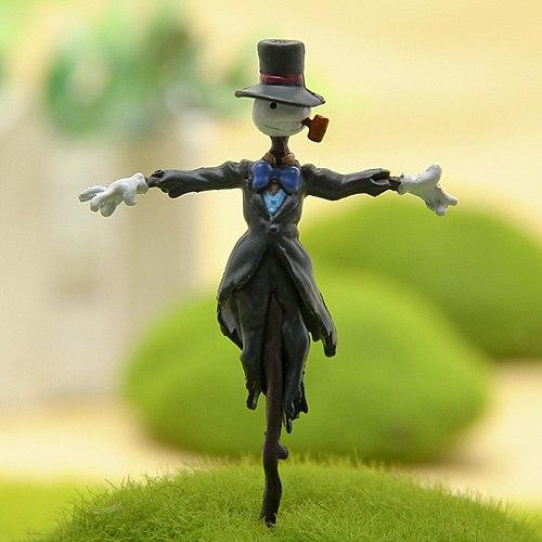 Mini Scarecrow Landscape Figures Anime Doll Miyazaki Terrariums Figurine Toy Garden Miniatures Decoration