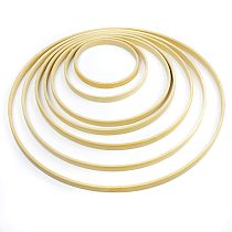 9-30cm Bamboo Ring Hoops Circle DIY Craft Wind Chimes Hanging Decorations Wedding Wreath Decor Handmade Accessories Home Decor