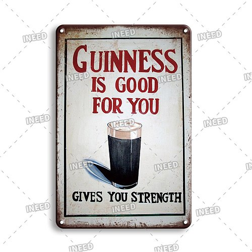 Rustic Home Decor Tin Sign Vintage Beer Logo Poster Metal Plate For Irish Pub Bar Industrial Decoration New Design Wall Plaques