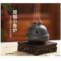 Sandalwood incense burner, household bruleur d'encens, agarwood ceramic sandalwood incense burner, air-purifying aroma diffuser