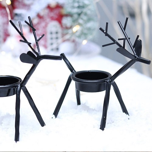 Christmas Candle Holders Creative European Iron Art Deer Candlestick Christmas Decorations And Gifts 135x135