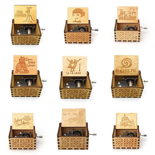 Engraved Color Wooden Hand Crank Music Box Perfect Gift for Wife - You Are My Queen Forever Birthday Present Gift sailor moon