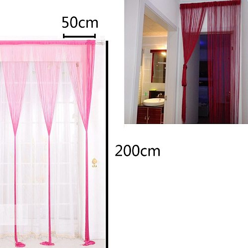 Creative String Curtains Patio Net Fringe For Door Fly Screen Windows Divider Cut To Size Solid Curtains For Living Room Tassel