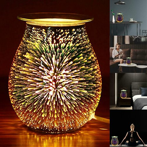 Faroot Electric Aroma Air Diffuser Desire Wax Melt Burner 3D Multifunction Creative Home Aroma Diffuser Touch Light Night Light