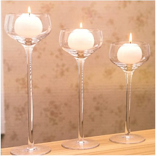 Elegant Romantic Creative Goblet Designed Glass Candle Holder Supplies Home Decortaion Ornament Candle Holder Candlestick