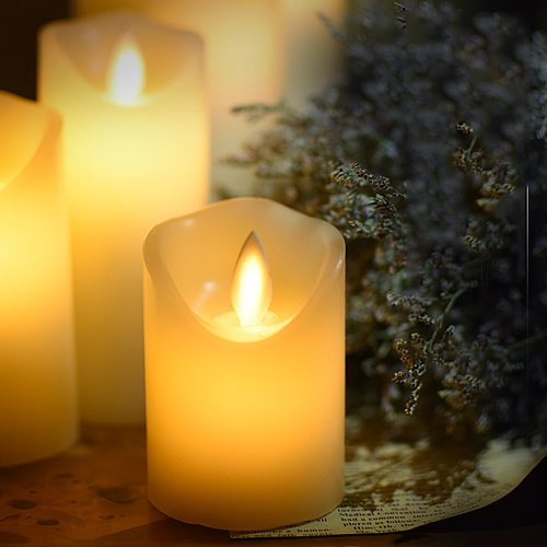 Battery Operated Led Candle Made By Paraffin Wax,Christmas Flameless Candle Light Decorative,Home Room/Wedding Candle Decoration