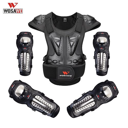 WOSAWE Motorcycle Body Armor Protection Elbow Guard Knee Guard Chest Armor Racing Jacket Off-Road Protective Gear Men