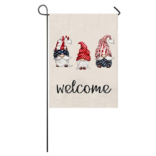 Outdoor Decoration  American Independence Day Flag House Courtyard Decoration Yard Decor Banner Home Garden Accessories
