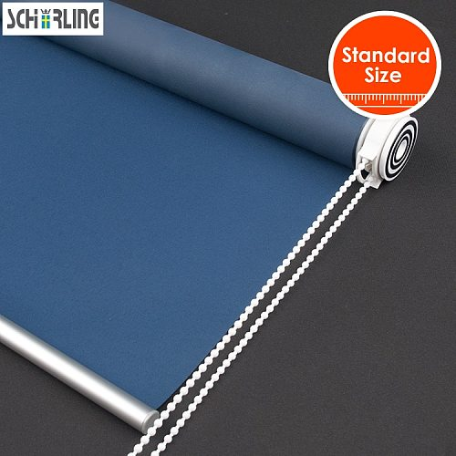 SCHRLING 100% Blackout Tension Roller Blinds No Drill Installation Inside Mount Only Window Roller Shutters For Windows Room